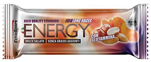 EthicSport - Barretta energetica Long Races - Barretta da 42 g - Gusto: Arachidi e Nocciola - Fornisce energia velocemente e per lungo tempo