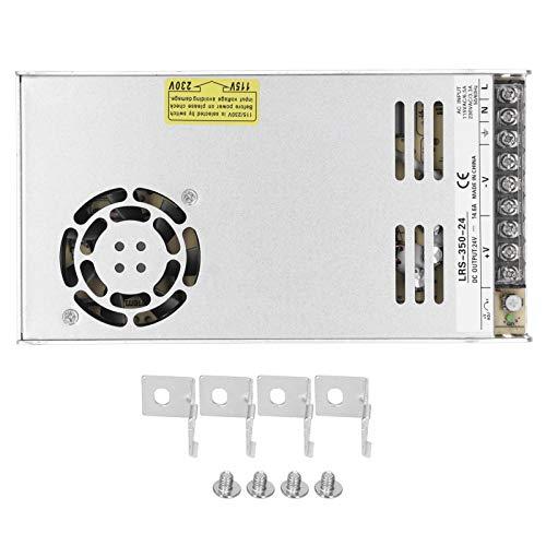 47~63Hz Fuente de Alimentación Conmutada -40 ~ + 85 ℃ LRS Transformer Driver Aluminio PCB Indicador LED de Arranque para caja de Alimentación con Paquete de Tornillos(LRS-350-24)