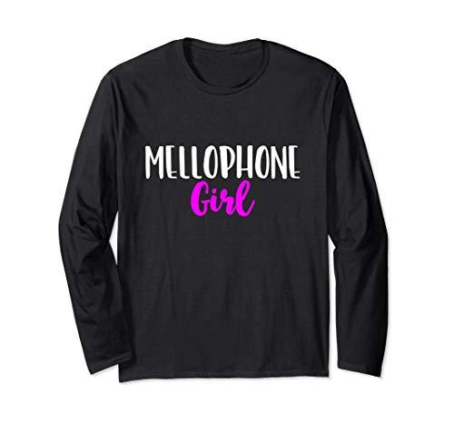Mellophone Girl Women Player Funny Cute Gift Langarmshirt