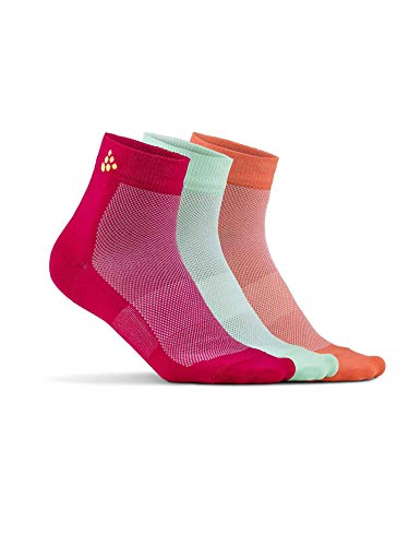 Craft Greatness Mid 3-Pack Socken, Jam/Lime, 37-39 (M)