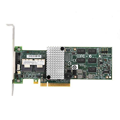 ASHATA M5015-Array-Karte, Smart Array, Megaraid 9260-8i-Controller-RAID, PCIe x8 für LSI 46M0851, Unterstützung von SATA- und SAS-Festplatten mit 3 Gbit/s und 6 Gbit/s