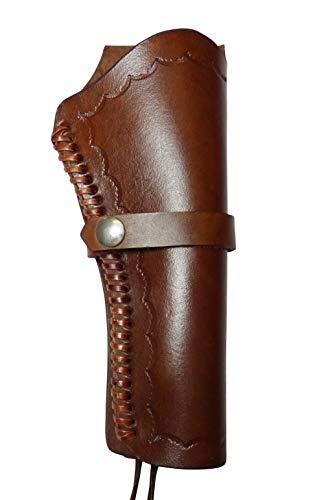 Holster Westernholster Rechts oder Links braun Handarbeit Rindsleder Peacemaker Colt (Rechtshänder)
