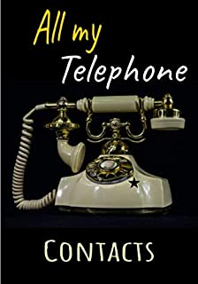 All my telephone contacts: Nice and large phone book, addresses, landline, mobile and office telephone numbers, emails with alphabetical letters