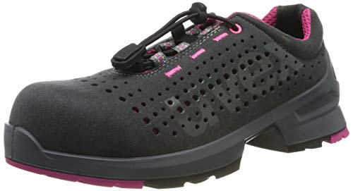 Uvex 1 Ladies Arbeitsschuhe - Sicherheitsschuhe S1 SRC ESD - Grau-Pink, Größe:40