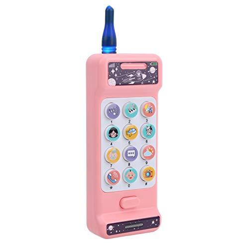 Teléfono Móvil Juguete Electrónico Vocal Juguetes Interactivos Niños Micrófono Juguete para Niños 3 años Niños (Gran Hermano Weierfan teléfono móvil)