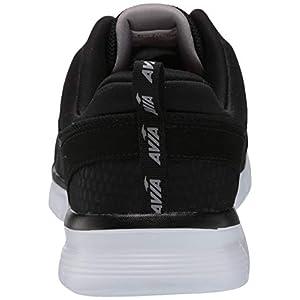Avia Men's Avi-Factor Sneaker, Jet Black/Silver Filigree/Chili Pepper, 11 Medium US
