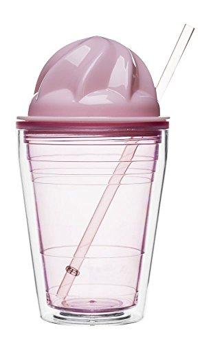 Sagaform melk-shake-beker, kunststof, roze, 15 x 10 x 10 cm