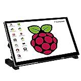 Raspberry Pi 4 Touch Screen,WIMAXIT 7 pollici Schermo portatile Raspberry Pi IPS da1024X600IPS con monitor HDMI USB C in vetro temperato per Raspberry Pi 4 3 2 Zero B+ Modello B Xbox PS4 iOS Win7/8/10