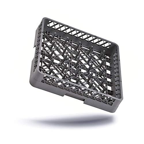 Kerafactum® - Spülkorb Korb mit 25 Finger für Teller und Tabletts für die Gastro Spülmaschine Spülmaschinenkorb universal aus Kunststoff 50x50 cm grobaschig und erweiterbar - all purpose rack