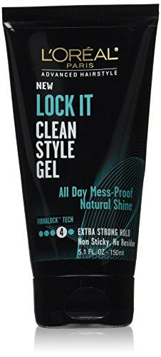 L'Oreal Paris Hair Care Advanced Hairstyle Lock It Clean Style Gel, 5.1 Fluid Ounce