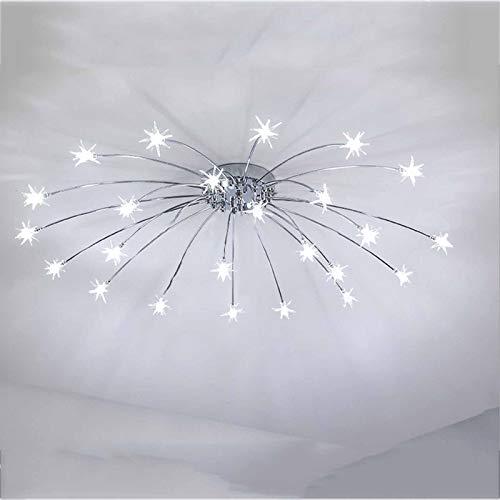 Lámpara De Techo LED Gypsophila, Iluminación De Techo Moderna De Instalación Empotrada Cromado para Sala De Estar, Dormitorio,White Light,21 Lights