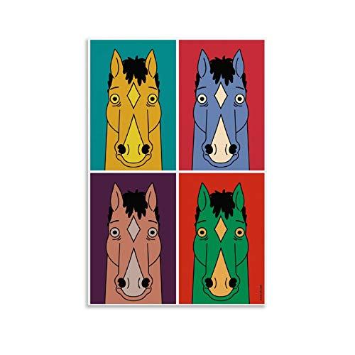 ZUNZUN BoJack Horseman Fondo De Pantalla - Poster artistico da parete con immagine moderna della famiglia, 40 x 60 cm