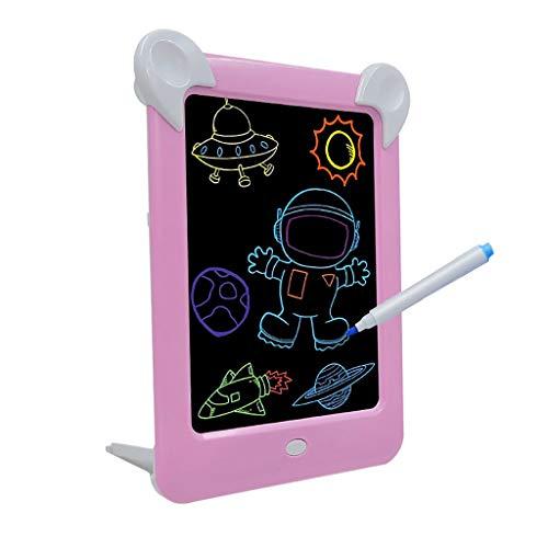 TwoCC-3D Magic Led Board D 'Schreiben, Creative Art Pad Pad mit Zeichenpinsel, Hi-Tech tragbares Zeichenbrett für Kinder, Zeichnen, Schreiben, Tablet D' Lernen (Pink)