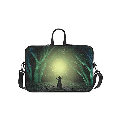 Magische Hexe Casting Zauberspruch Scary Aktentasche Laptoptasche Messenger Schulter Arbeitstasche Crossbody Handtasche Für Geschäftsreisen