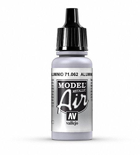 Vallejo Model Air, Colore Acrilico, 17 ml, Metallic Aluminium