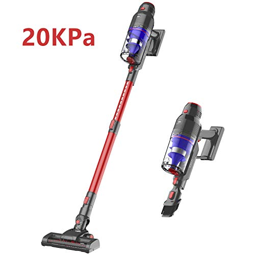 WOWGO Cordless Stick Vacuum Cleaner - 20Kpa Powerful Suction Handheld Vacuum with Adjustable Tube and HEPA Filter for Hard Floor, Carpet and Car