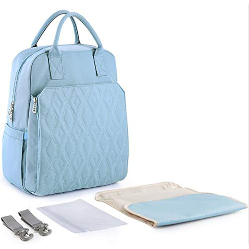 WUQIANG Bolsa de pañales Bolsas de pañales for el Cuidado del bebé, de Gran Capacidad, con Estilo y Durable (Color : Blue)