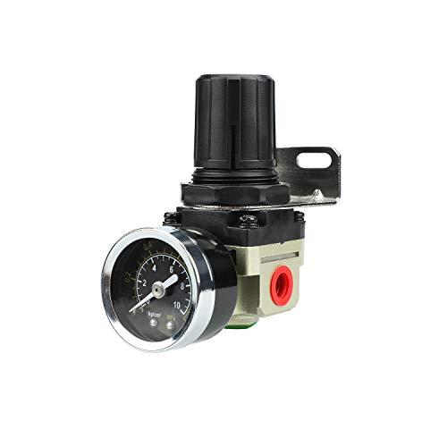 Hochwertige Druckminderer Druckregler für Druckluft Werkzeug Kompressor, 1/4 Zoll