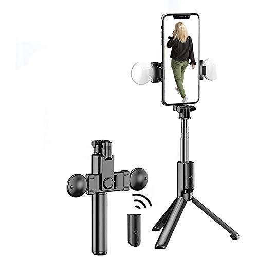 LeeBoom 3 in 1 Phone Selfie Stick Tripod with Fill Light Retractable Bluetooth 360° Rotating Angle Selfie Stick