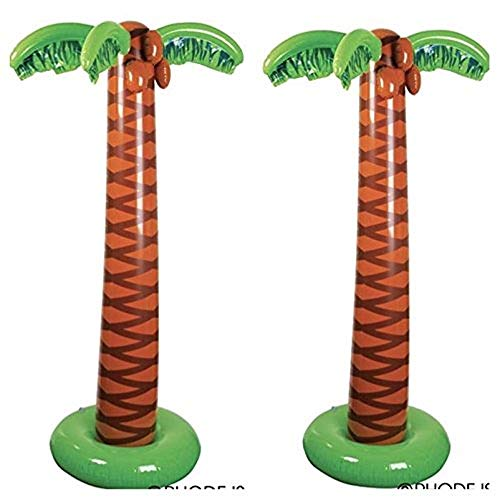 Rhode Island Novelty 66 Inch Inflatable Palm Trees, Set of Two
