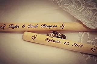 Personalized Custom Laser Engraved Wooden Drumsticks Father's Day, Brother, Mother's Day, Birthday, Anniversary Gift