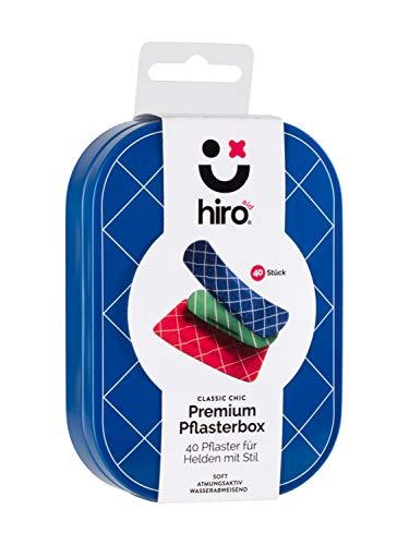 Hiro-aid 40x Premium-Pflaster Classic Chic im Set in hochwertiger Vorratsbox – soft, atmungsaktiv, wasserabweisend