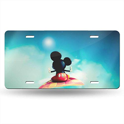 Suzanne Betty Aluminum License Plates - Mickey Mouse License Plate Tag Car Accessories 12 X 6 Inches