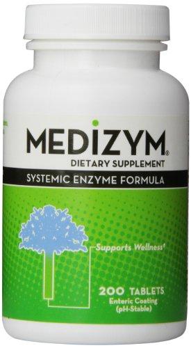 Medizym, Systemic Enzyme Formula, 200 Tablets
