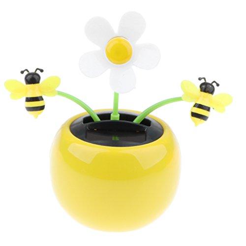 Solar Wackel Figur, Wackelfigur Tanzende Blume Solarblume Wackelblume, Spielzeug Sammelfigur Auto Ornamente - Biene