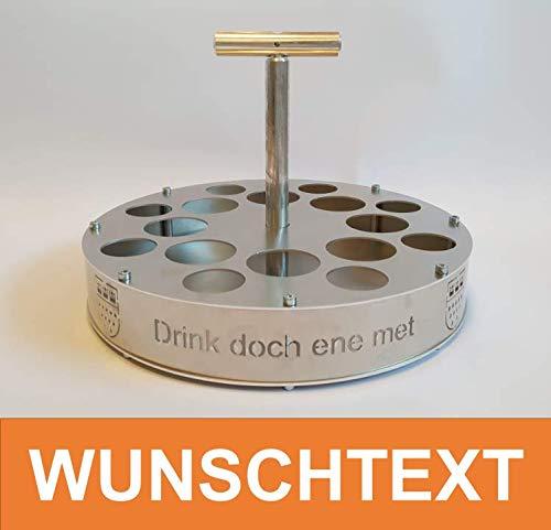 Kölsch-Schnapskranz mit Wunschtext aus Aluminium Kölschkranz Bierkranz