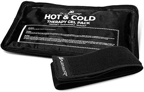 Ice Pack for Hot amp Cold Therapy Gel Pack  Hot amp Cold Relief Reusable Freezable amp Microwaveable Pain amp Muscle Soreness Arm Leg Knee Shoulder Back Pain Relief Compression Pack amp Strap