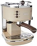 De'Longhi Icona Vintage ECOV 311.BG Macchina da Caffè Espresso Manuale e Cappuccino, Caffè in Polvere o in Cialde E.S.E., 1100 W, Beige