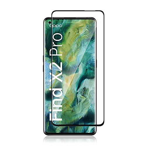 QULLOO Panzerglas Schutzfolie kompatibel mit OPPO Find X2 Pro/Find x2,HD Klar Bildschirmschutz Folie Blasenfrei Anti-Scratch Ultra Dünn Bildschirmschutzfolie - Transparent