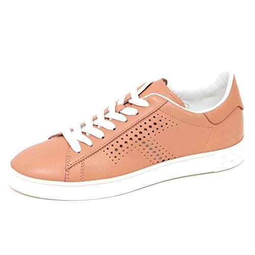 Tod's E2914 Sneaker Donna CASSETTA Scarpe Cipria Scuro forata Shoe Woman [39.5]
