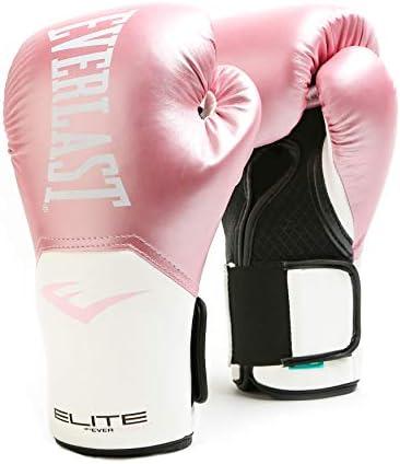 Everlast Elite Pro Style Guantes de entrenamiento, rosa/blanco, 8 oz
