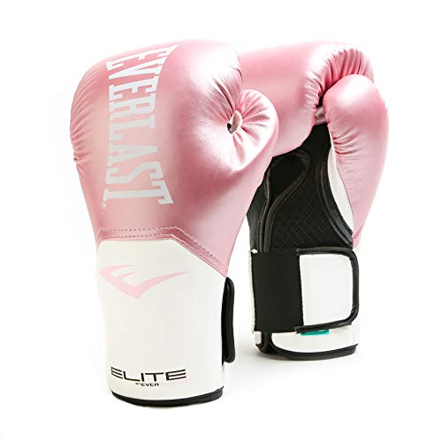 Everlast Elite Pro Style Training Gloves, Pink/White, 12 oz