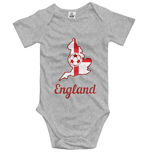 England Soccer Shirt Football Baby Onesies,Unisex Solid Multicolor Baby Bodysuits 0-24 Months