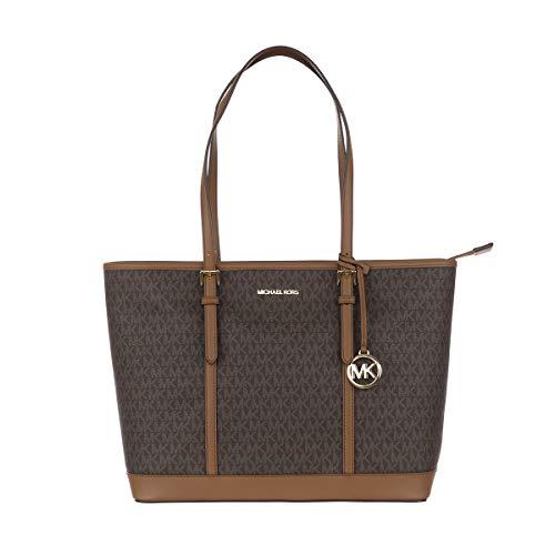 Michael Kors JET Set Travel Sling Bag - Bolso de viaje para mujer, color marrón