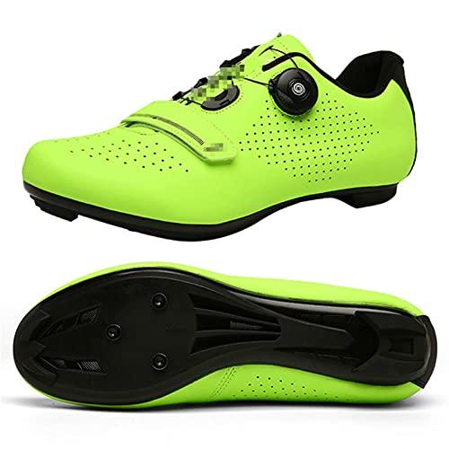 Qisheng Trade Zapatos Ciclismo Carretera, Zapatos MTB, Antideslizantes, Transpirables, para Hombres, Carreras Carretera, Zapatos Deportivos Bicicleta, Zapatos Cierre Automático,A-37