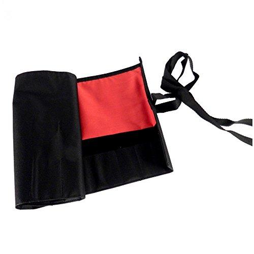 Dingmu Bonsai Werkzeugtasche, Rolltasche schwarz/rot 58 x 26 cm 60991