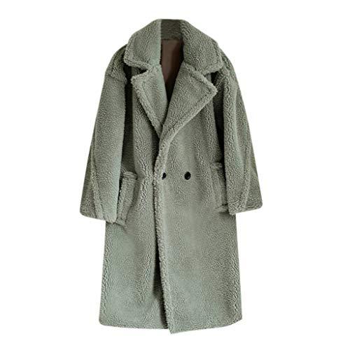 Sylar Abrigos De Mujer Invierno Elegantes Abrigo De Mujer Fleece Color Sólido Cárdigans De Punto Largos Otoño Invierno Suéter Outwear Moda Abrigos De Piel Sintética Caliente De Invierno Abrigo