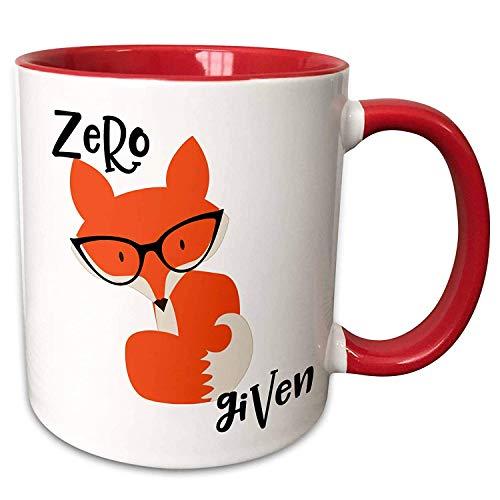 O5KFD&8 11 OZ Müsli Tassen Porzellan Unique Becher - Zero Fox Given Ceramic Mug Urlaub Weihnachten Geschenke, für Restaurant verwenden