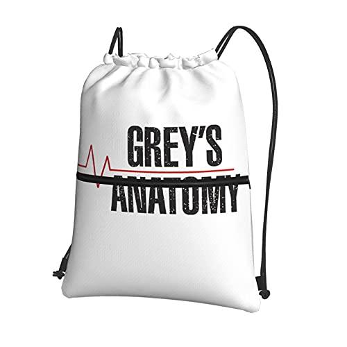 Grey'S Anatomy - Mochila con cordón, mochila a granel, bolsa de cincha, bolsa de deporte, para la escuela, gimnasio, viajes