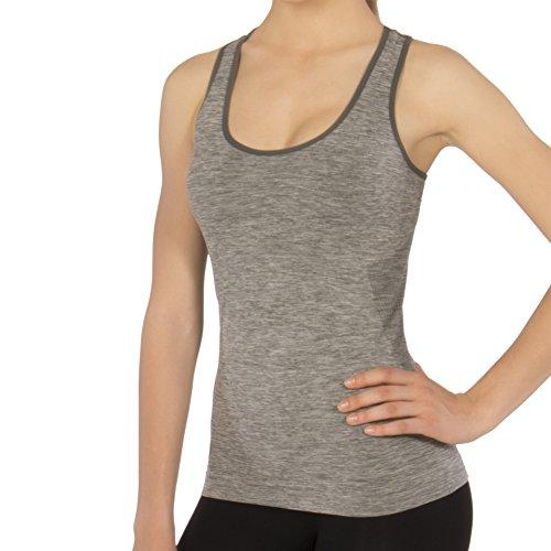 Body&Co Camiseta sin Mangas con Hombro Ancho con microcápsulas de cafeína Adelgazante Deportes