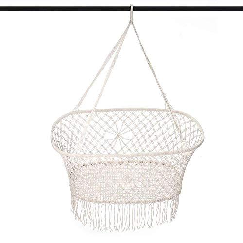 XUXUWA - Silla de comedor para niños y adolescentes, pequeña cuerda de algodón, hecha a mano para colgar en interiores, exteriores, jardín, patio, porche, patio