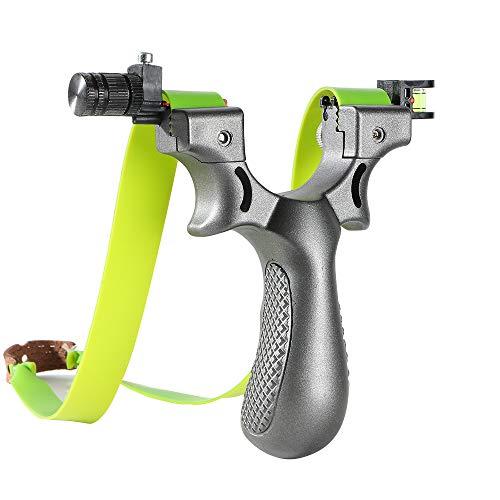 Toparchery Schleuder Slingshot mit 2 Ersatzgummibändern für Outdoor Sports, steinschleuder für Jagd