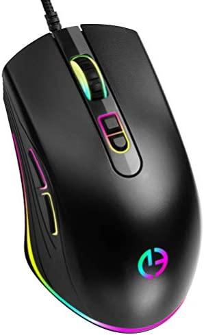 USB Optical Wired Computer Mouse with Easy Click for Office and Home 6 Adjustable DPI Levels product image