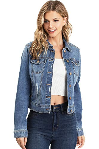 adorable denim jacket for teenage girl