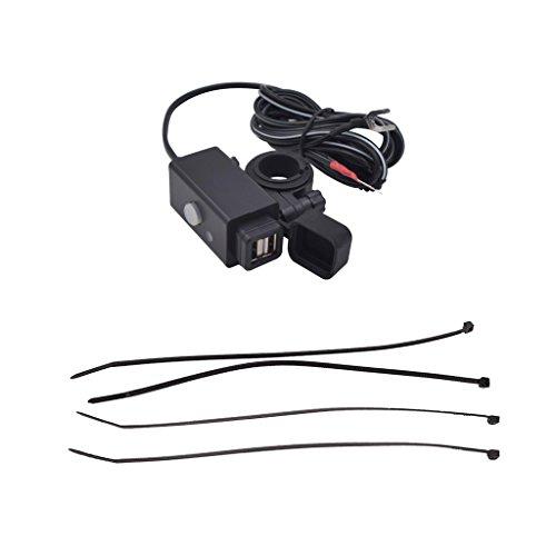 IPOTCH Cargador MP3 GPS Dual Del Teléfono Celular Del Puerto USB de La Motocicleta con Prenda Impermeable Del Interruptor