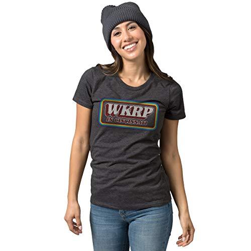 WKRP TV Show Logo T-Shirt   Vintage Cincinnati Apparel   Pop Culture Tee Black